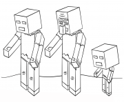 Coloriage minecraft zombies