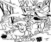 scooby doo 49 dessin à colorier