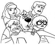 scoubidou et ses amis dessin à colorier