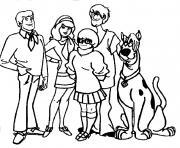 scooby doo et ses amis personnages dessin à colorier