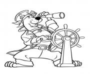 Coloriage scooby doo le pirate
