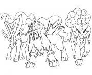 Coloriage mega pokemon legendaire