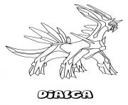 Coloriage pokemon dialga dessin