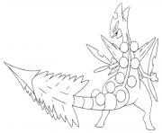 Coloriage pokemon mega rayquaza 3