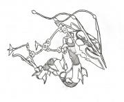 Coloriage pokemon mega rayquaza 6