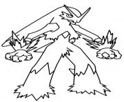 Coloriage kyurem blanc pokemon legendaire dessin