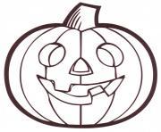 citrouille halloween dessin à colorier