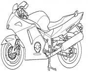 moto 113 dessin à colorier