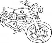 Coloriage motocyclette 14