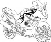 Coloriage motocyclette 2