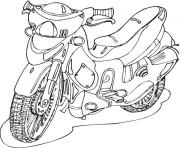 Coloriage motocyclette 43