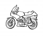 Coloriage motocyclette 2 dessin