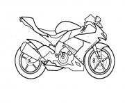 moto de course 14 dessin à colorier