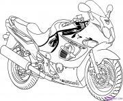 moto de course 5 dessin à colorier