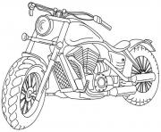 Coloriage motocyclette 42