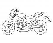 moto facile 37 dessin à colorier