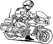 moto facile 39 dessin à colorier