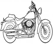 Coloriage motocyclette 36