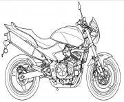 Coloriage motocyclette 9