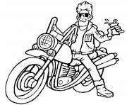 moto de course 32 dessin à colorier