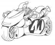 moto sport vitesse dessin à colorier
