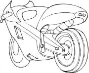 Coloriage motocyclette 15