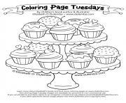 Coloriage beautiful sweet cupcake coloring pages dessin