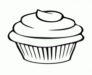 Coloriage cupcake simple facile