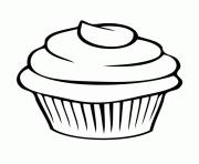 cupcake simple facile dessin à colorier