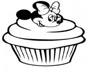 Coloriage minnie mouse cupcake disney