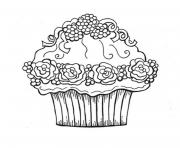 Coloriage monster high cupcake dessin