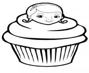 Coloriage simple cup cakes par olivier dessin