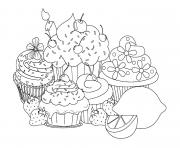 Coloriage beautiful sweet cupcake coloring pages