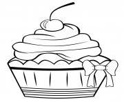 cupcake vintage original classic basic4 dessin à colorier
