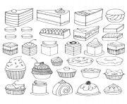 Coloriage Adulte Gateau A Imprimer.Coloriage Cupcake A Imprimer Gratuit Sur Coloriage Info