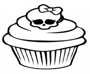 Coloriage minnie mouse cupcake disney dessin - Comment dessiner une monster high ...