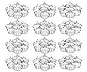 Coloriage cupcakes coloring pages 125 dessin