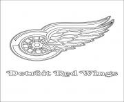 detroit red wings logo lnh nhl hockey sport dessin à colorier