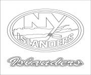 Coloriage new york islanders logo lnh nhl hockey sport