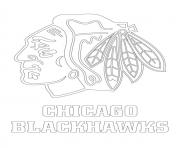 chicago blackhawks logo lnh nhl hockey sport1 dessin à colorier