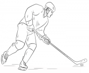 Coloriage hockey joueur lnh nhl hockey sport