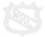 Coloriage lnh nhl logo lnh nhl hockey sport
