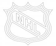 lnh nhl logo lnh nhl hockey sport dessin à colorier