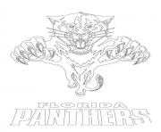 Coloriage florida panthers logo lnh nhl hockey sport