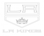 los angeles kings logo lnh nhl hockey sport dessin à colorier