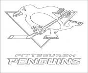 Coloriage pittsburgh penguins logo lnh nhl hockey sport