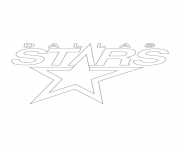 dallas stars logo lnh nhl hockey sport dessin à colorier