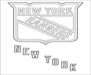 new york rangers logo lnh nhl hockey sport dessin à colorier