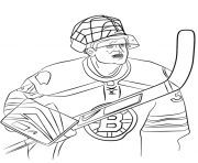 Coloriage tim thomas lnh nhl hockey sport
