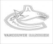 vancouver canucks logo lnh nhl hockey sport dessin à colorier